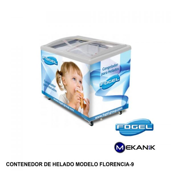 Exhibidor de helados mediano modelo FLORENCIA-9