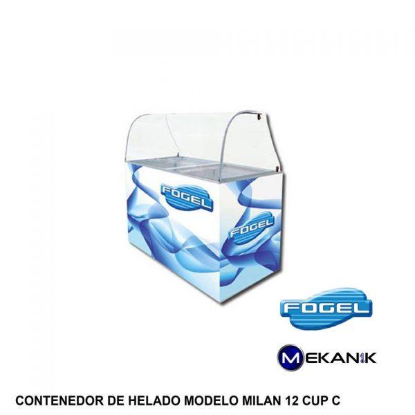 Exhibidor de helados modelo MILAN-12-CUP-C
