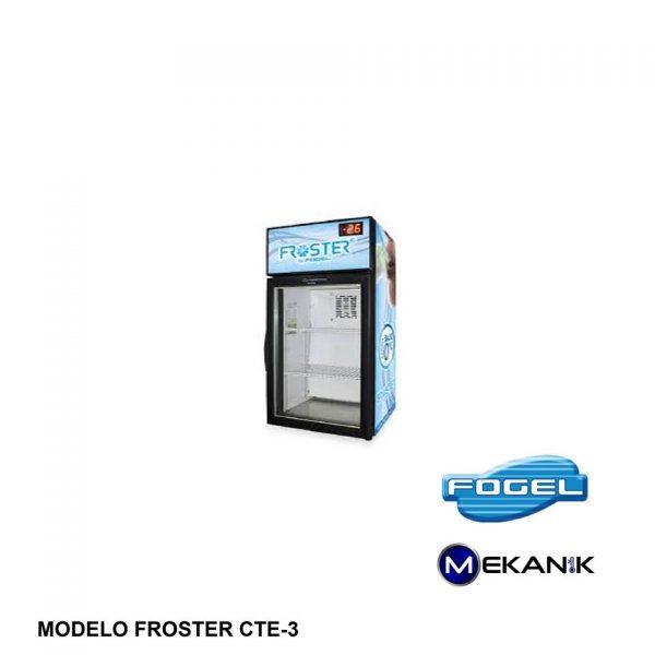 FROSTER más pequeño modelo CTE-3-PVP