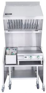 Ventless 3ft Package 15lb. Fryer, 24″ Griddle, Table