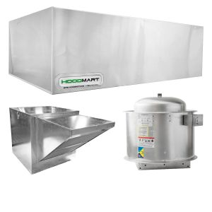 Restaurant Hood System w/ Makeup-Air 10'x48″
