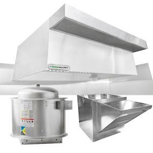 Restaurant Hood System w/ PSP Makeup-Air 7'x48″
