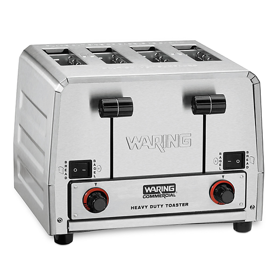Heavy-Duty 4-Slot Switchable Bread & Bagel Toaster