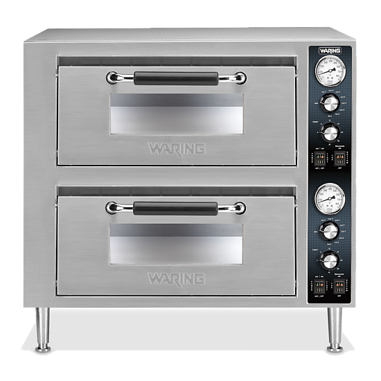 Double-Deck Pizza Oven – Dual Chamber