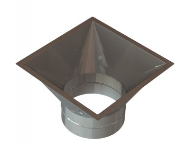 10″ – 22″ Diameter Grease Duct Transition Round to Square