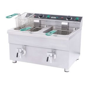 NAKS 30 lb ETL Listed Induction Commercial Countertop Fryer