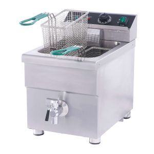 NAKS 15 lb ETL Listed Induction Commercial Countertop Fryer