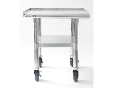 NAKS 24″ x 27″ 16 Gauge Stainless Steel Equipment Stand with Undershelf and Casters